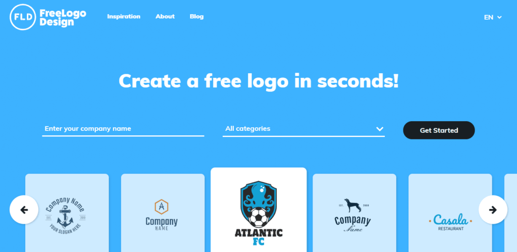 napraviti logo za blog