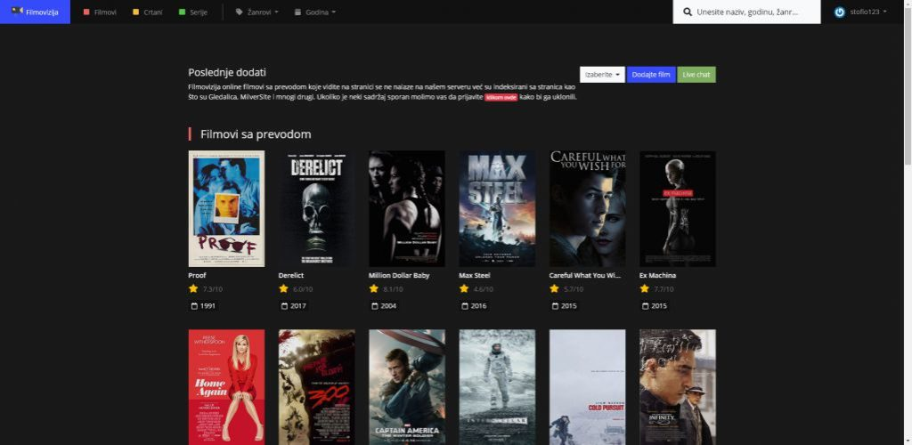 gledati filmove online sa prevodom - sajt Filmovi.me