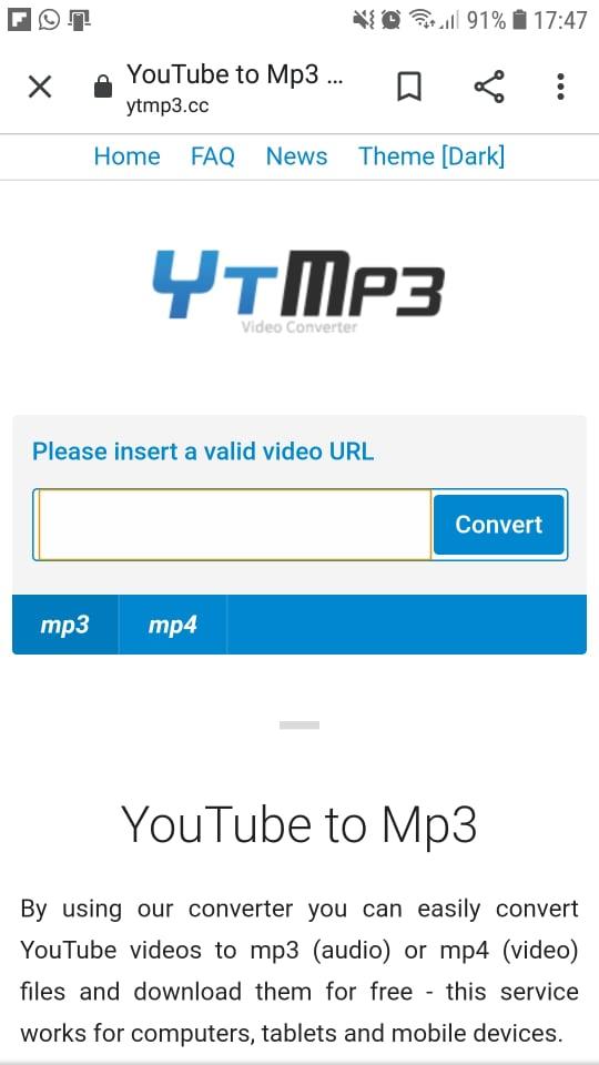 skidanje muzike na telefon sa youtube online