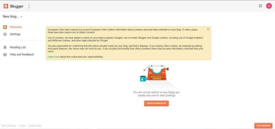 kako napraviti blog na Blogger besplatno